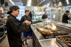 Wow! Sizzling savory goodness at the campusNYC culinary arts summer program.