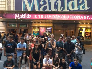 campusNYC students went to Matilda during one of the sessions last summer.