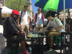 Explore NYC cook with the best chefs! Challenging one of the chess champions who take on all players; one of the coolest traditions in Washington Square.
