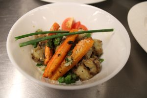 Ginger glazed asian stir-fry veggies at our cooking class NYC